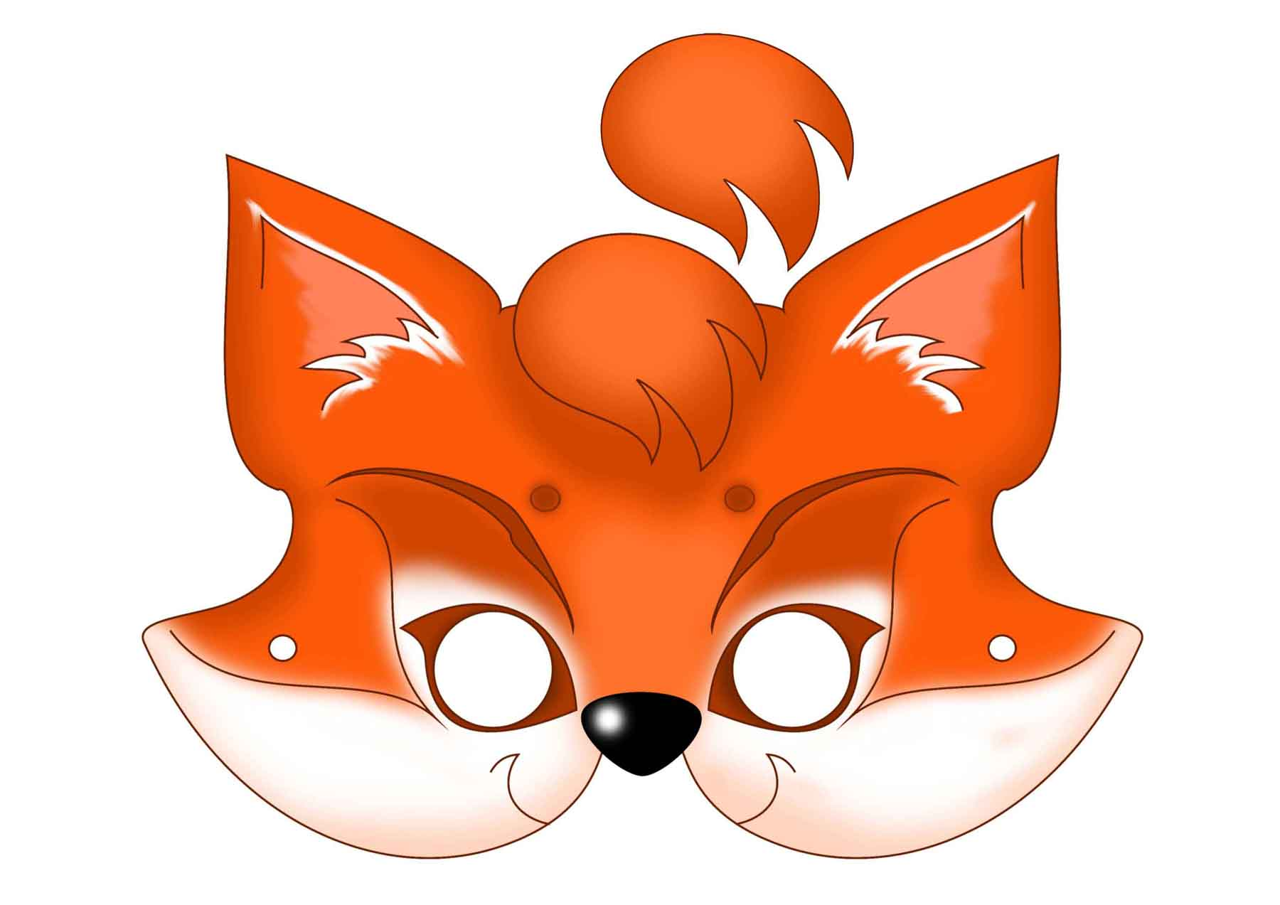 for Fantastic mr fox mask template