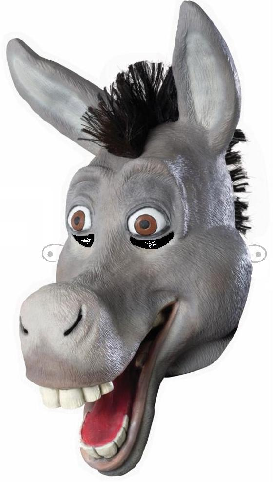 for Donkey face mask template