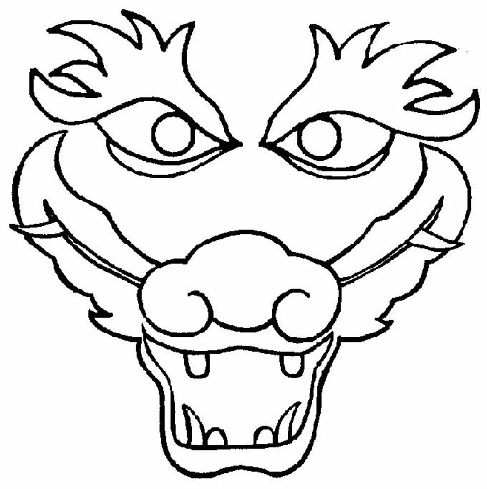 friendly chinese dragons coloring pages - photo#28